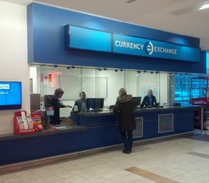 A photo of the International Currency Exchange