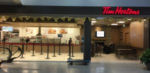 Photo of Tim Hortons post-security