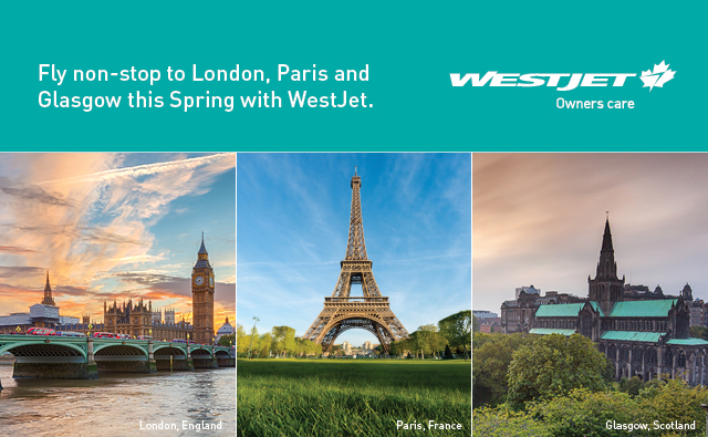 WestJet European Flights 2018