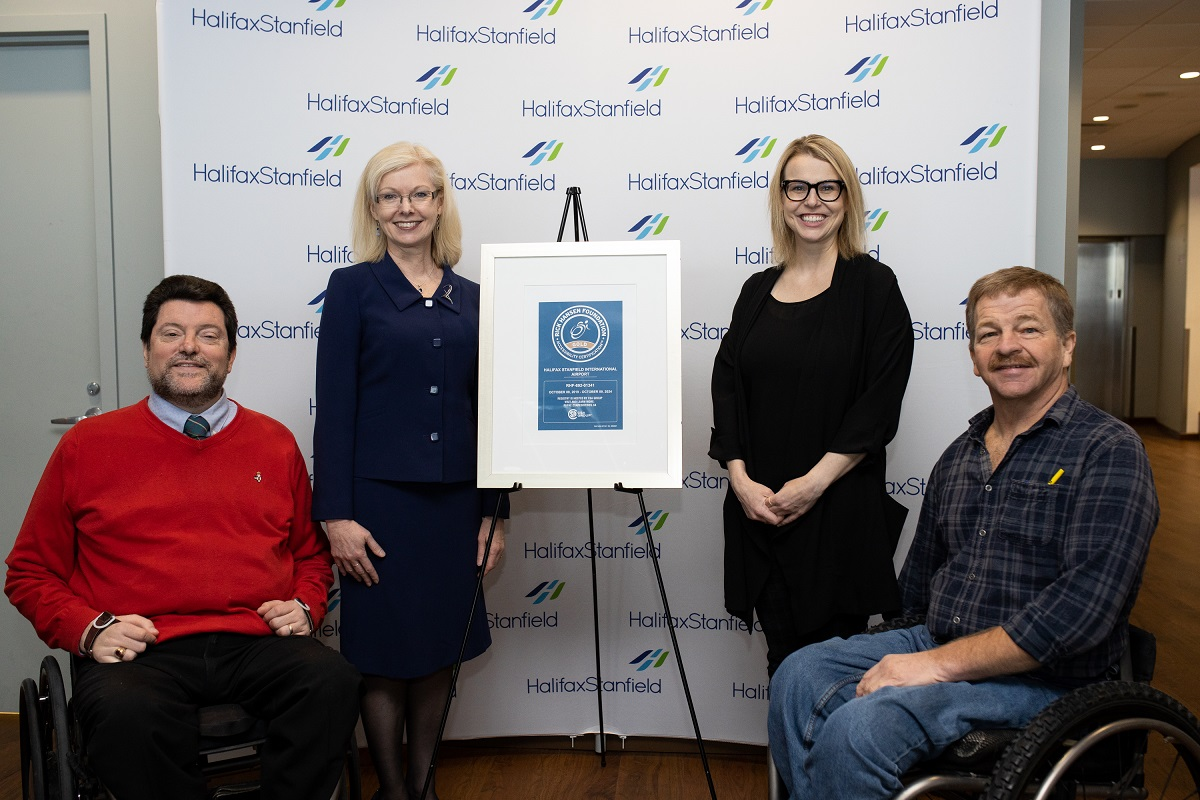Halifax Stanfield Becomes First Facility in Nova Scotia to Achieve Gold Accessibility Rating from Rick Hansen Foundation