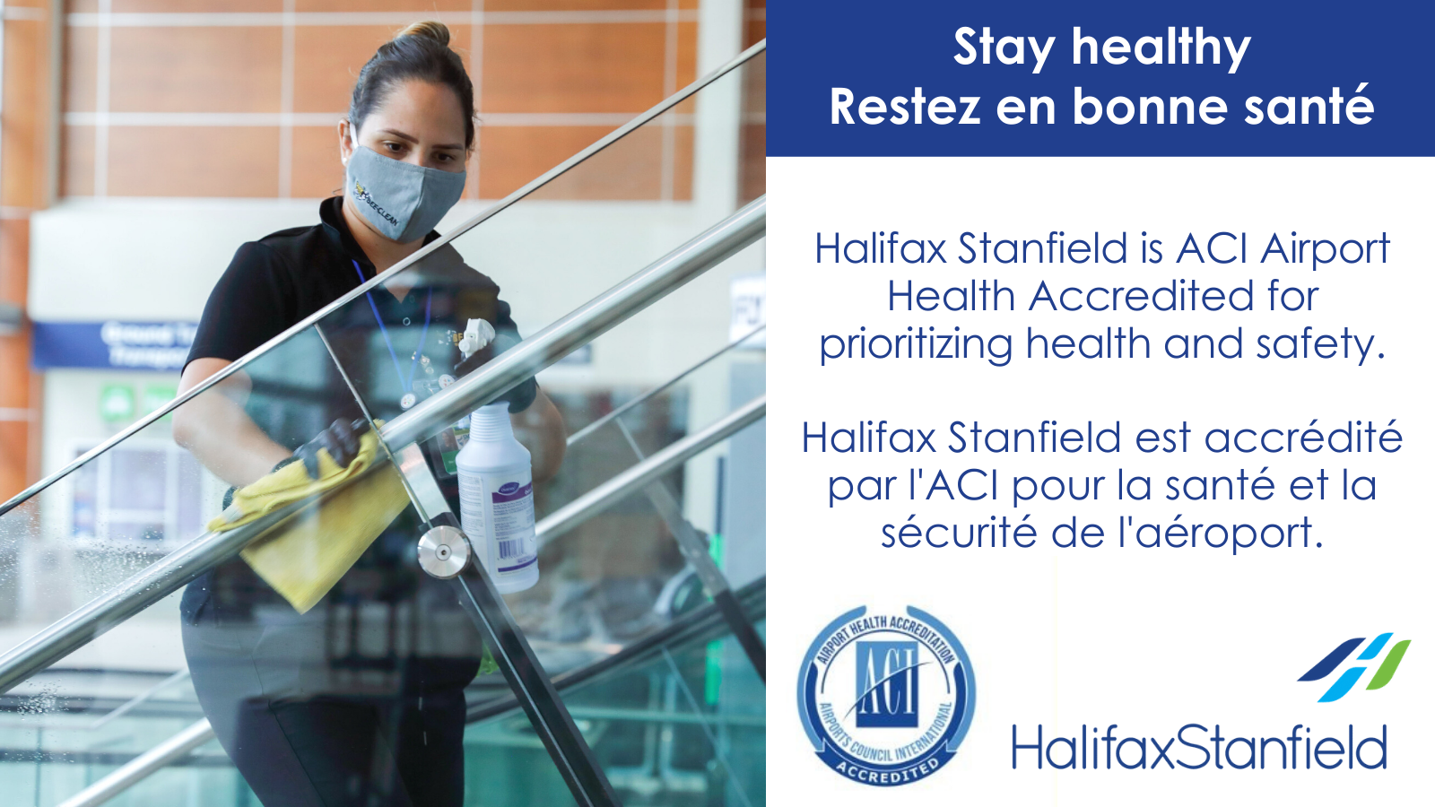 Halifax Stanfield Receives Airport Health Accreditation from Airports Council International